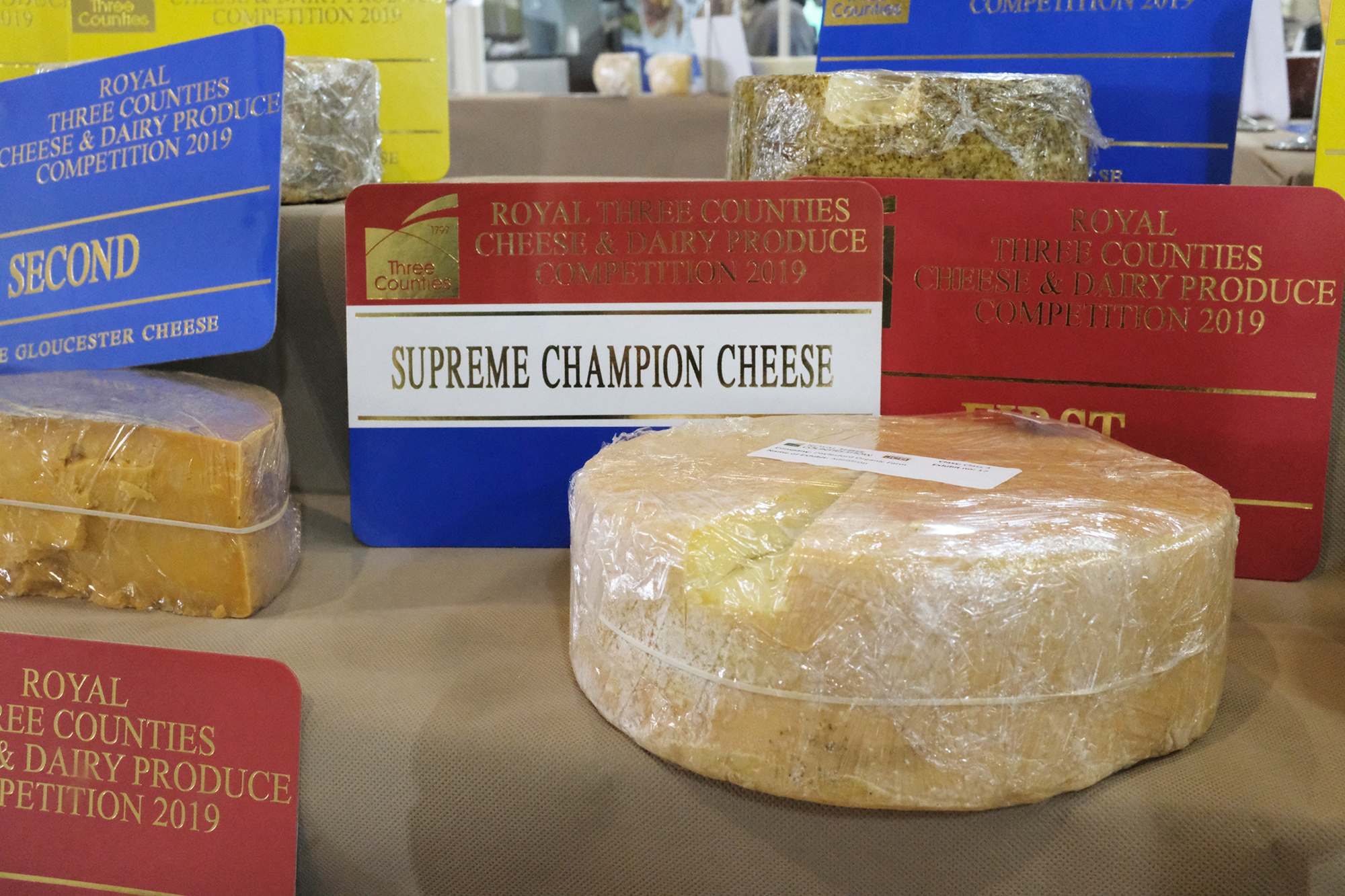Photo of the winner of the award for 'supreme champion cheese' 2019